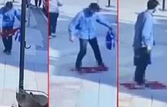 Bursa'da skandal! Türk bayrağını yere serip üzerine basmıştı