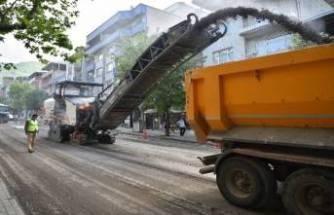Bursa'da tam kapanmada asfalt seferberliği