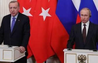 Cumhurbaşkanı Erdoğan, Rusya Devlet Başkanı Putin ile kritik görüşme