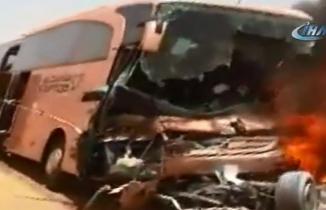 Acı haber! Türk hacı adaylarının otobüsü yandı, ölü ve yaralılar var