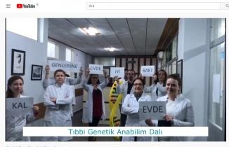 BUÜ Tıp Fakültesi ve Bursasporlu futbolculardan #EvdeKalBursa videosu