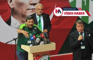 """Bu sözler kongreyi karıştırdı: """"Ali Ay'a oy atanın Bursasporluluğundan şüphe ederim!"""""""