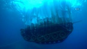 Askeri tank böyle batırıldı!