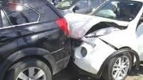 Mudanya yolunda zincirleme kaza! 100'den fazla araç birbirine girdi