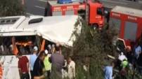 Sakarya'da Metro Turizm'e ait otobüs devrildi!